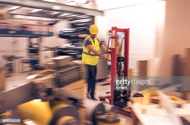 Working with forklift