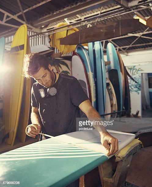 Zusammenarbeit mit Surfbretter ist seine passion