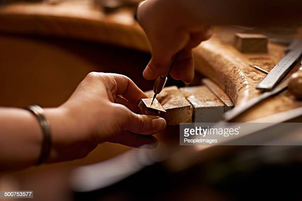 working with your hands is the purest art form - craftsman stock photos and pictures