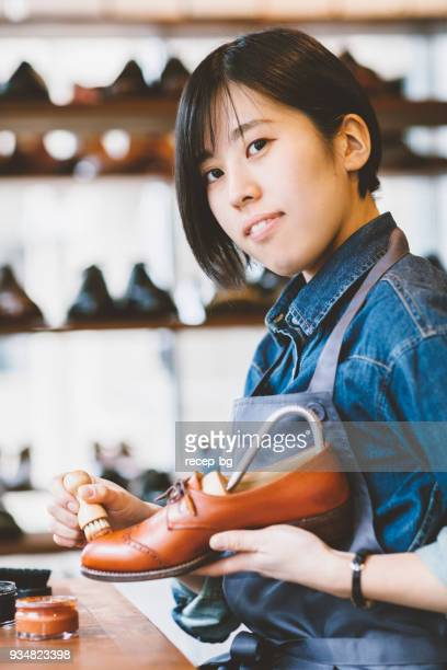 Working young Japanese woman