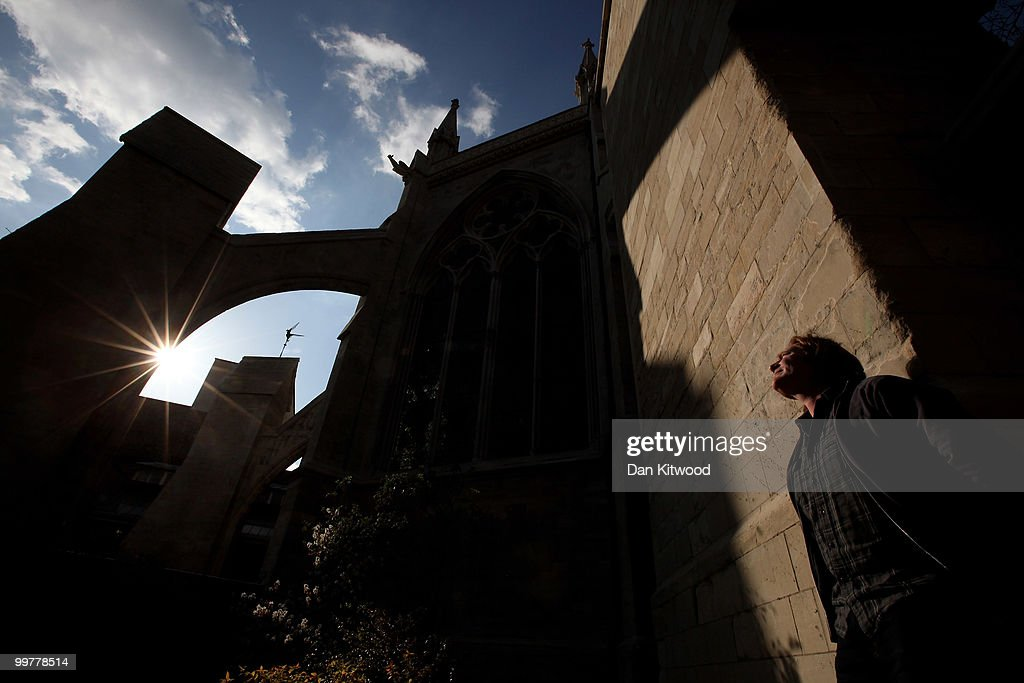 A workman enjoys the sunshine along the nearly completed out facade of Westminster Abbey's Chapter House on April 14, 2010 in London, England. Built in the 1250's Chapter House is one of London's oldest buildings, but over the years has suffered deterioration to much of its stone facade because of prevailing weather conditions. With the help of a team of stonemasons, led by English Heritage, the exterior has now been carefully returned to it's former glory with a full complement of newly carved friezes, gargoyles and fully restored stained glass windows.