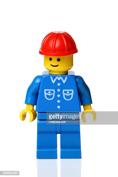 lego workman figure - lego stock photos and pictures
