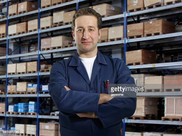 workman in warehouse