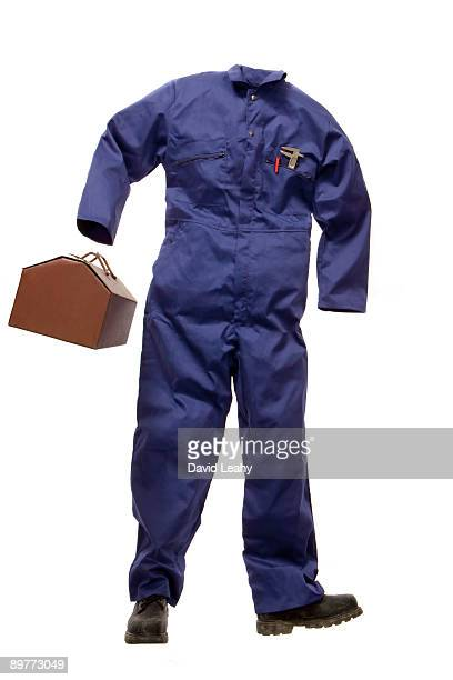 A Workman's suit with tool box