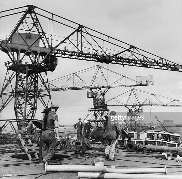 Workmen at the Vickers Armstrong shipyard at Wallsend on the River Tyne 21st October 1950 Original Publication Picture Post 5138 Down The Tyne pub...