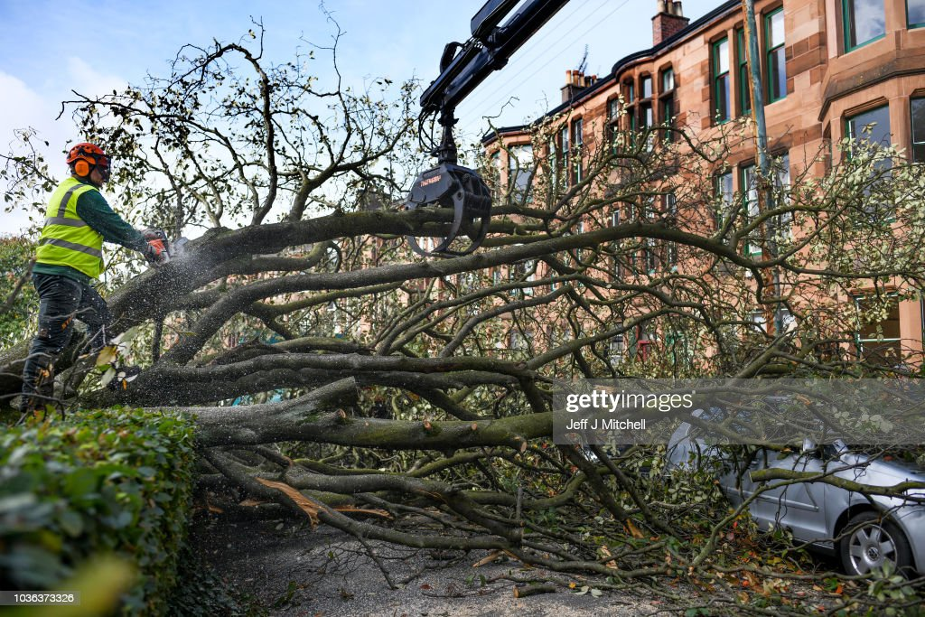 Clean-Up Begins In Glasgow After Storm Ali
