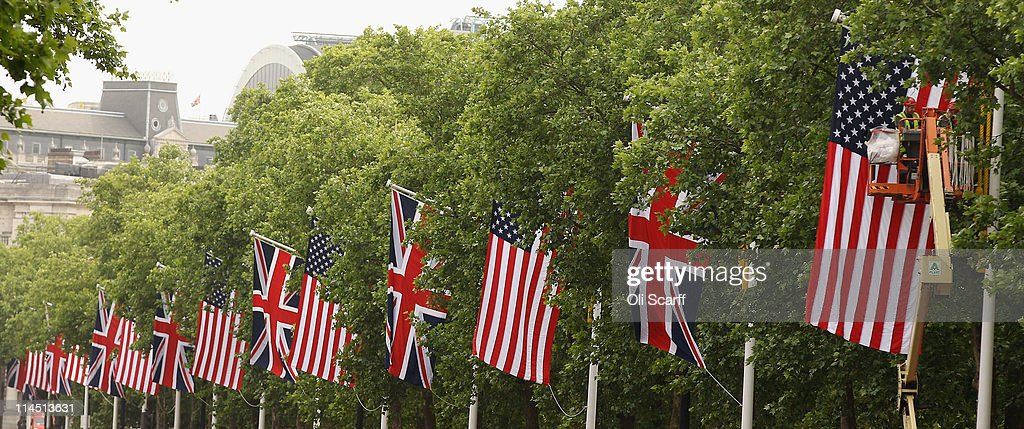 Preparations Are Made Ahead Of US President Barack Obama's Visit To The UK : News Photo