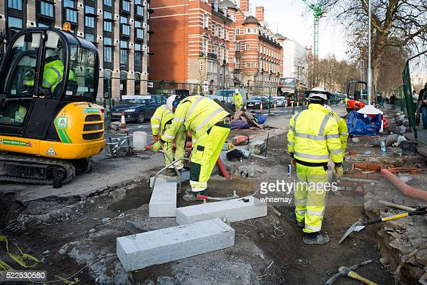 Workmen on the Embankment, London