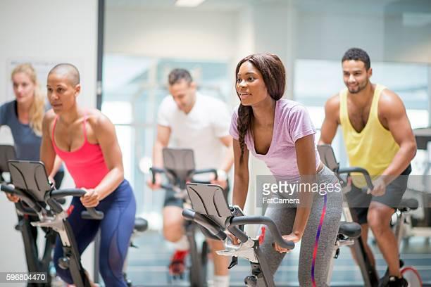 Workout Out in a Spin Class
