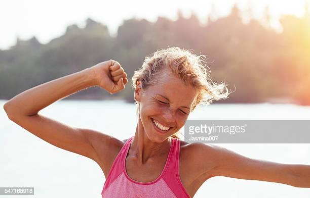 Workout success woman