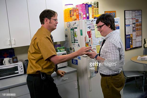 THE OFFICE Workplace Bullying Episode 901 Pictured Rainn Wilson as Dwight Schrute Clark Duke as Clark