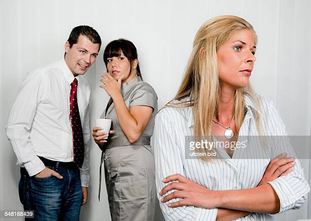 Workplace bullying in an office -