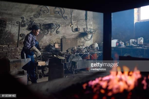 Workplace of blacksmith