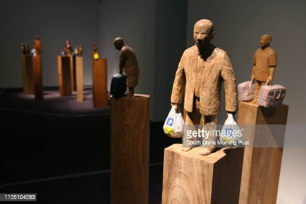 """Works by Kevin Fung in """"Made In Hong Kong"""" exhibition at Hong Kong Museum of Art, TST. 22 Januray 2008."""