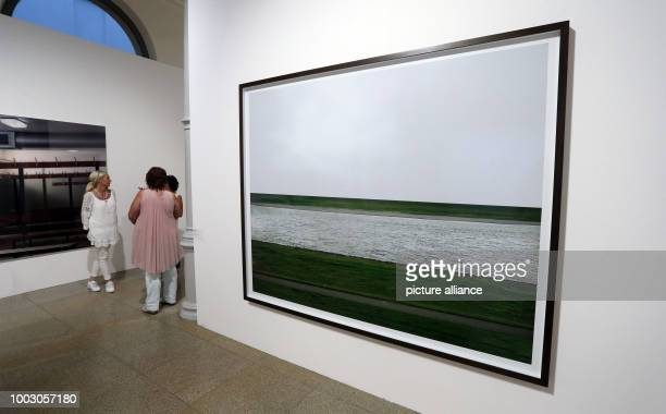Works by the art photographers Andreas Gursky and Thomas Demand are displayed at the MewoKunsthalle in Memmingen Germany 18 May 2017 The star gallery...