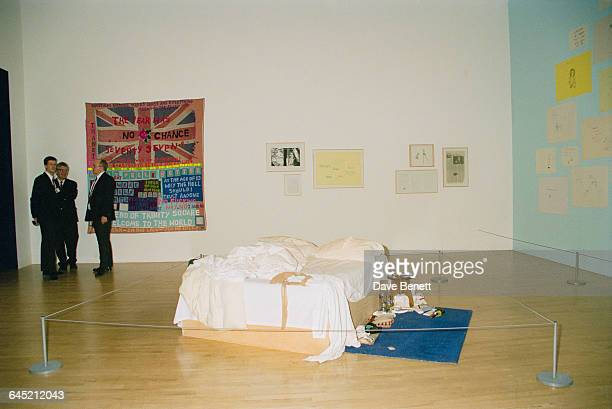 Works by Turner Prize nominee Tracy Emin at the Tate Britain gallery London 30th November1999 The main exhibit is Emin's readymade installation 'My...