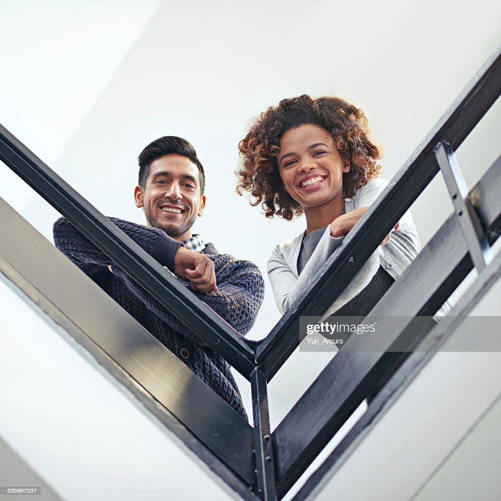 Works more fun from way up here : Stock Photo