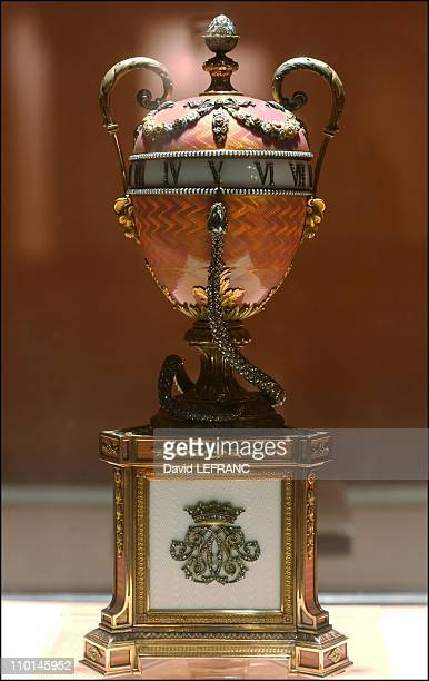 Works of art by Carl Faberge from the Forbes collection in New York United States on November 26 2002 Duchess of Marlborough egg