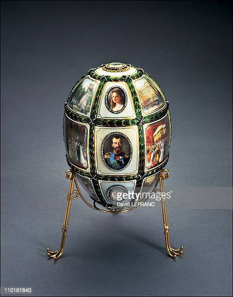 Works of art by Carl Faberge from the Forbes collection in New York United States on November 26 2002 Fifteenth Anniversary Egg