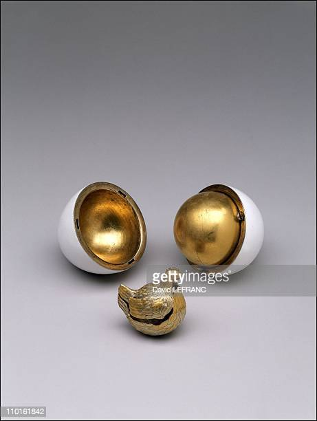 Works of art by Carl Faberge from the Forbes collection in New York United States on November 26 2002 Imperial First Egg
