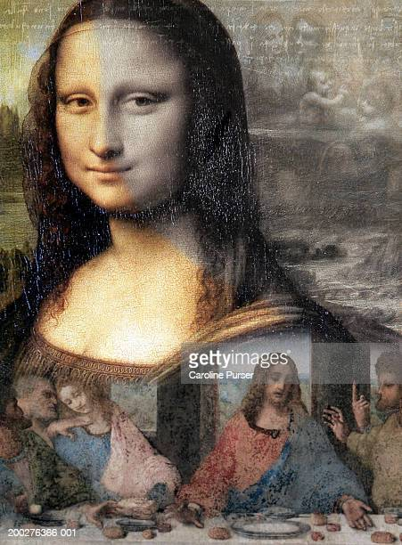 works of leonardo da vinci (montage) - virgin mary stock pictures, royalty-free photos & images