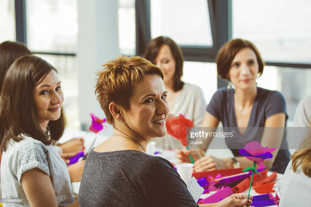 Workshop for women : Stock Photo