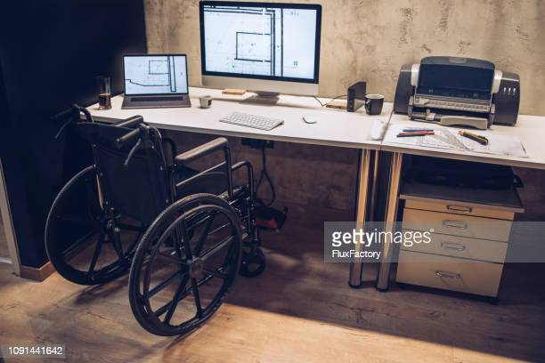 Workspace of an architect with differing abilties