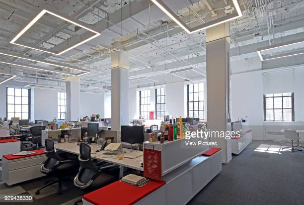 Workstation area Tribeca Office New York City United States Architect HOK International Ltd 2015
