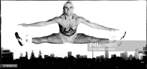 World Aerobics Champion Marcus Irwin shows his jumping style at Bondi JctOn top of town world aerobics champion Marcus Irwin of Elizabeth Bay shows...