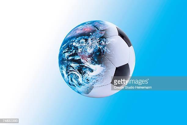 world and football, digital composite - international match photos et images de collection