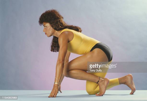 World and Olympic athletics champion Florence GriffithJoyner of the United States poses for a portrait on 5th April 1988 in Los Angeles California...