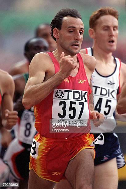 World Athletics Championships Seville Spain 2029 August Men's 1500 Metres Final Spain's Fermin Cacho in action