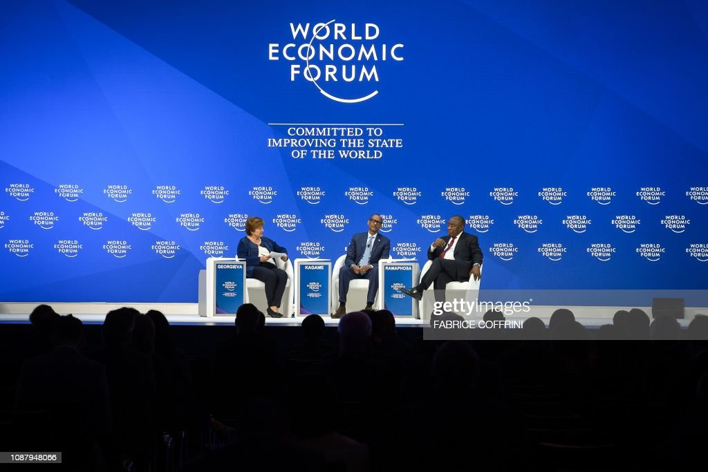 SWITZERLAND-DAVOS-POLITICS-ECONOMY-DIPLOMACY : News Photo