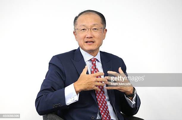 World Bank Group President Jim Yong Kim answers questions from the audience at Bloomberg on September 19 2014 in Sydney Australia Jim Yong Kim is...
