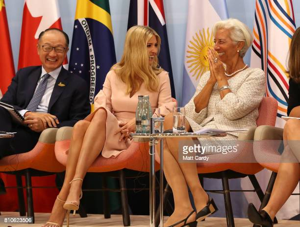World Bank president Jim Yong Kim Daughter and advisor to US President Trump Ivanka Trump and Managing Director of the International Monetary Fund...