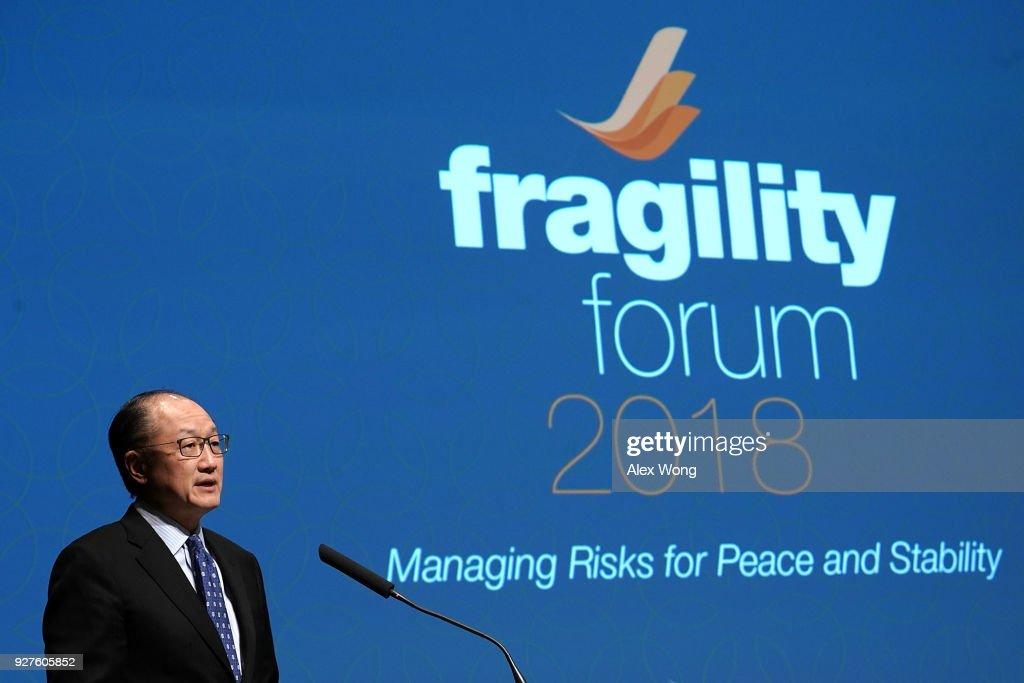 World Bank President Jim Yong Kim Speaks At Fragility Forum In Washington