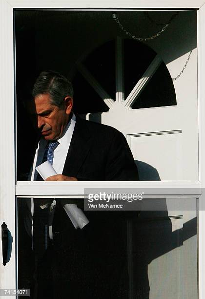 World Bank President Paul Wolfowitz leaves his house May 15 2007 in Chevy Chase Maryland A report released by the World Bank indicates that Wolfowitz...