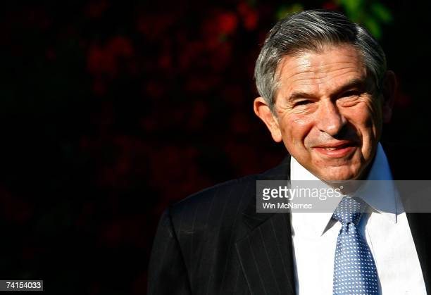 World Bank President Paul Wolfowitz leaves his house on May 15 2007 in Chevy Chase Maryland A report released by the World Bank indicates that...