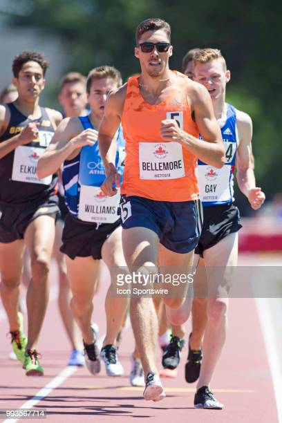 World beer mile record holder Corey Bellemore runs in the 1500m semifinal at the 2018 Athletics Canada National Track and Field Championships on July...