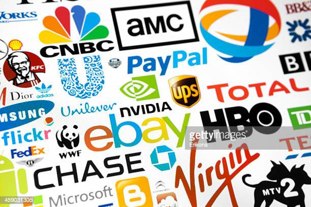 world brand logotypes - nvidia corporation - fotografias e filmes do acervo