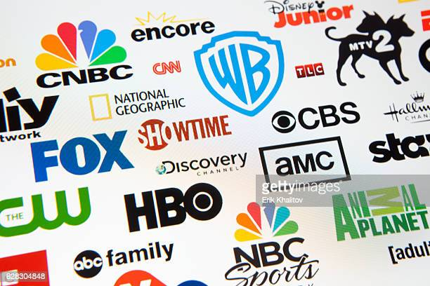 world brand logotypes - abc broadcasting company stock pictures, royalty-free photos & images