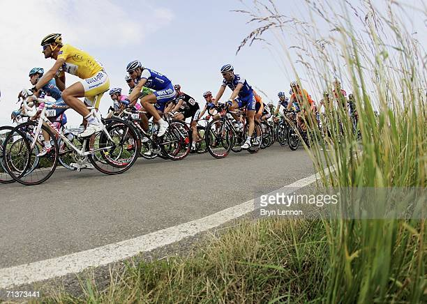World Champion and race leader Tom Boonen of Belgium and Quickstep in atcion during stage 4 of the 93rd Tour de France from Huy to Saint Quentin on...