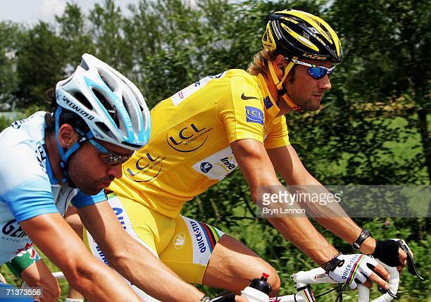 World Champion and race leader Tom Boonen of Belgium and Quickstep is seen in atcion during stage 4 of the 93rd Tour de France from Huy to Saint...