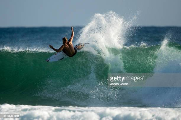 3X World Champion Australian Mick Fanning practices for his upcoming round 3 heat at Snapper Rocks Coolangatta for The Quiksilver Pro Gold Coast Stop...