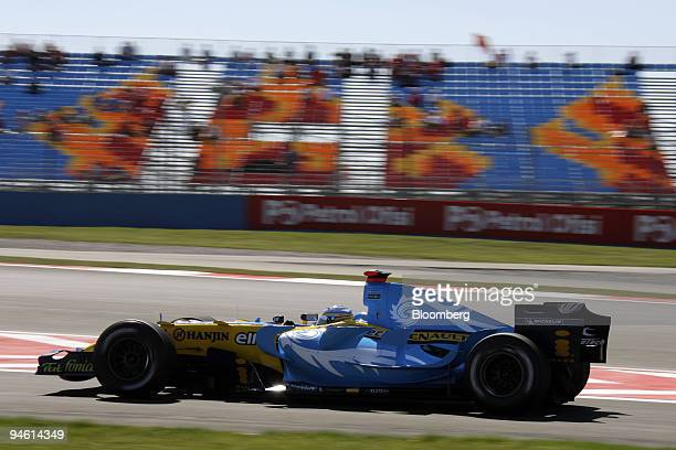 World champion Fernando Alonso of Team Renault seen on the second practice session for the Formula 1 GP in Istanbul Turkey Friday August 25 2006