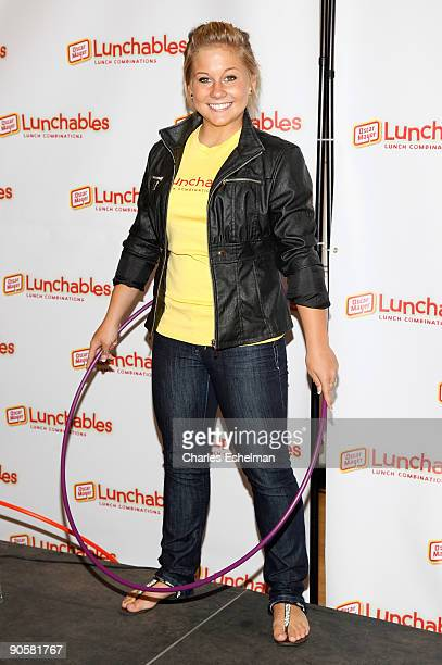 World champion gymnast Shawn Johnson attends the Lunchables Lunch Note Promise Campaign at the 92nd Street Y on September 10 2009 in New York City