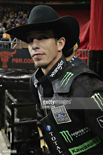 World Champion JB Mauney waits to ride during PBRÕs 10th Anniversary Monster Energy Buck Off at the Garden at Madison Square Garden on January 17...