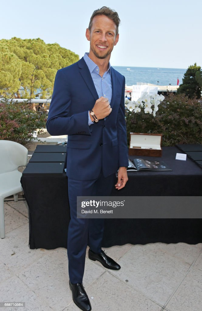 World Champion Jenson Button poses at the launch of The Legacy Collection by Parham Ramezani on The Terrace, Amber Lounge at Le Meridien Beach Plaza Hotel on May 26, 2017 in Monaco, Monaco.