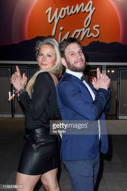 World champion Julia Dorny and Peter Schmidt attend the annual Young Icons Award at Kosmos on April 30 2019 in Berlin Germany