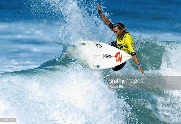 World Champion Layne Beachley of Australia in action during her victory over Sofia Mulanovich of Peru in the final of the Roxy Pro at Hossegor France...